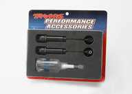 Traxxas 2662  Big Bore shocks (XX-long) (hard-anodized & PTFE-coated T6 aluminum) (assembled with TiN shafts) w/o springs (rear)