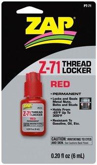 ZAP Z-71 Skruvlås 6ml röd
