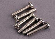 Traxxas 2563 Screws, 3x15mm roundhead machine (6)