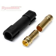 Dynomax B9302  Connector XT150 6mm Black 1+1