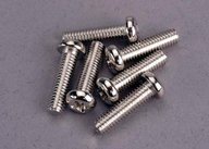Traxxas 2573 Screws, 4x15mm roundhead machine (6)