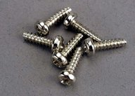 Traxxas 2675 Screws, 3x10mm roundhead self-tapping (6)