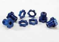 Traxxas Wheel hubs, splined, 17mm (blue-anodized) 5353X