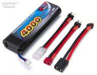 VAPEX Li-Po Batteri 2S 7,4V 4000mAh 40C Multi-kontakt