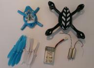 Hubsan H107-A37B X4 crash pack (Battery, Propellor, Body) Blue