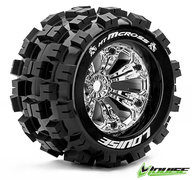 "Louise L-T3276CH MT-MCROSS Truck Tires on 3.8"" Wheels with +1/2"" OFF-SET"