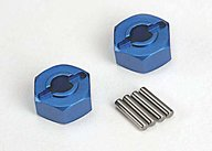 Traxxas 1654X Lightweight Blue-anodized Aluminum Hex Wheel hubs & axle pins (4)