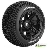 Louise L-T3289B Tires & Wheels ST-VIPER 1/8 Truck (Beadlock) Black (2)