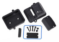 Traxxas 7424  Box, receiver (sealed)/ foam pads/ 2.5x12mm CS (2)/ 3x6mm CS (2)/ 3x12mm BCS (2)