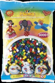 Hama 201-66  3000st 6 färger