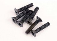 Traxxas 2553 Screws, 3x15mm countersunk machine (6) (hex drive)