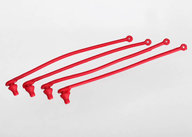 Traxxas 5752 Body clip retainer, red (4)