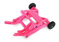 Traxxas 3678P Wheelie bar, assembled (pink) (fits Stampede, Rustler, Bandit series)