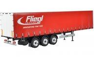 Carson 500907235 1/14 3-Axle Fliegel Megarunner curtain in red