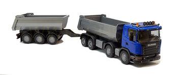 Emek 89220 Scania grusbil med släp