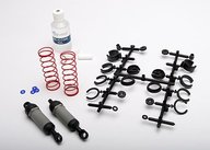 Traxxas 3760A Ultra Shocks (grey) (long) (complete w/ spring pre-load spacers & springs) (front) (2)