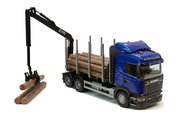 Emek 47900E Scania stockbil blå