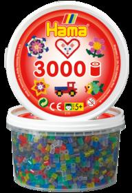 Hama 210-00  3000st 6 färger transparent
