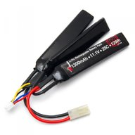 Vapex LP304 Battery 11,1V 1300mAh 25C Li-Po Split Airsoft