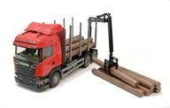 Emek 47900E Scania stockbil röd