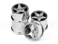 HPI 114279 Q32 SUPER STAR WHEEL SET (CHROME/4PCS)
