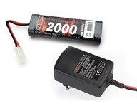 Maxam combo pack 1A laddare och 7,2v 2000mAh nimh batteri