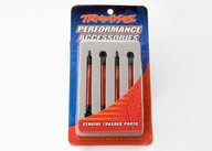 Traxxas 7118X Push rods, aluminum (red-anodized) (4) (assembled with rod ends)