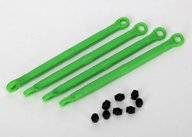 Traxxas 7138G Toe link, front & rear (molded composite) (green) (4)/ hollow balls (8)