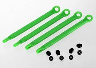 Traxxas 7118G Push rod (molded composite) (green) (4)/ hollow balls (8)