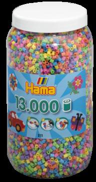 Hama 211-50  13000st pastell mix på burk