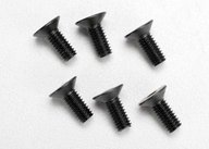 Traxxas 2535 Screws, 4x10mm countersunk machine (hex drive) (6)