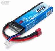 Vapex VPLP015FD Li-Po Battery 2S 7.4V 1800mAh 30C T-Connector