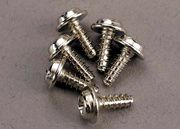 Traxxas 3290 Screws, 3x8mm washerhead self-tapping (6)